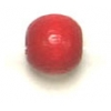 Wooden Bead Round 5mm Red